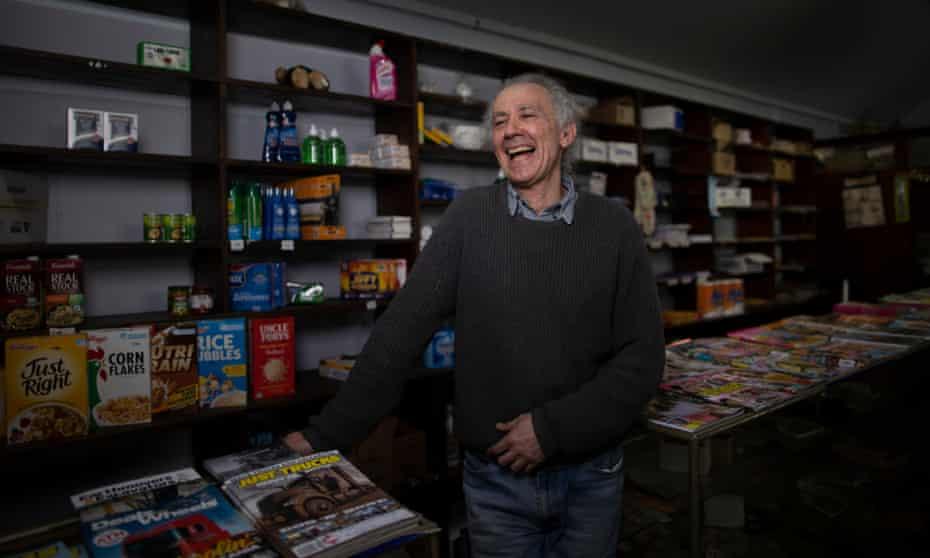 Bill Kosseris in the Binalong store
