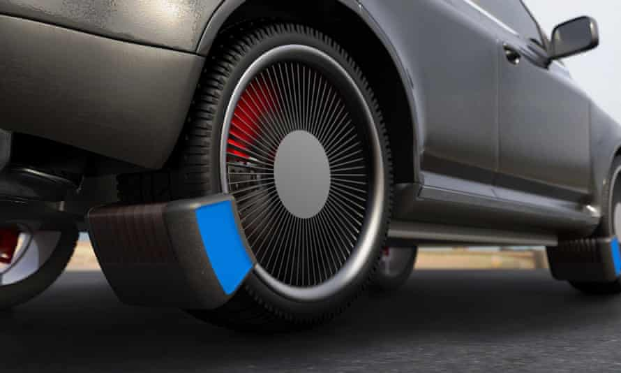 The Tyre Collective's device attached to a wheel