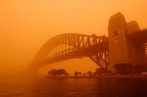 Dust storm in Sydney Australia