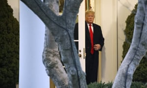 Donald Trump leaves the Oval Office in Washington DC, on 14 November.