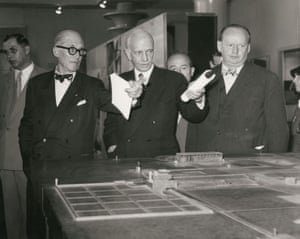 Le Corbusier, Otto Bartning and Hans Scharoun  in 1957