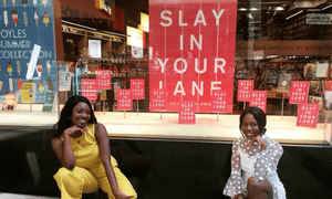 Yomi Adegoke and Elizabeth Uviebinené at the launch of their book Slay in Your Lane.