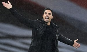 Mikel Arteta shows his frustration in Arsenal's draw with Leicester at the Emirates Stadium.