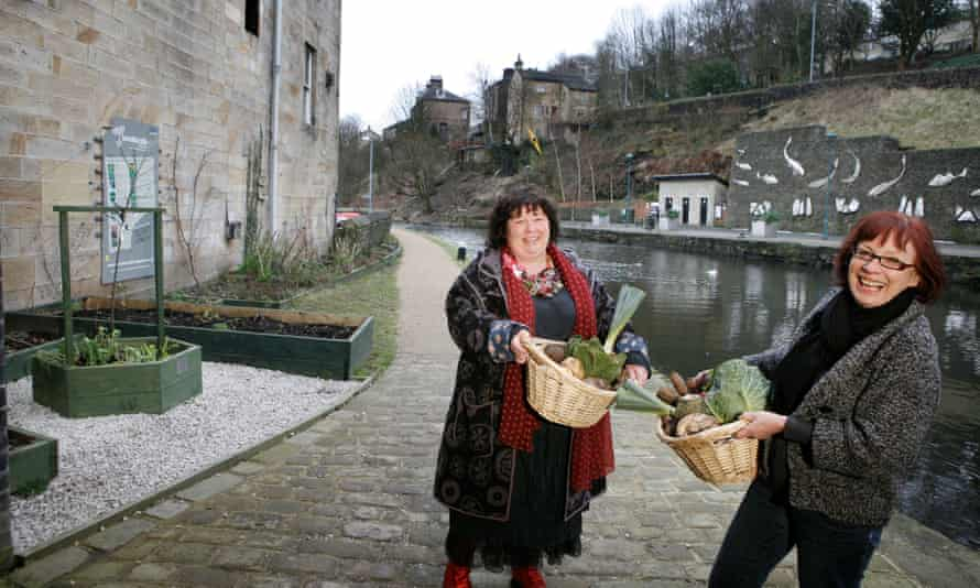 Mary Clear (left) and Pam Warhurst of Incredible Edible in Todmorden, West Yorkshire