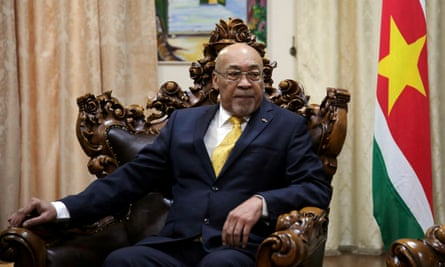 Suriname president Desi Bouterse in July 2019