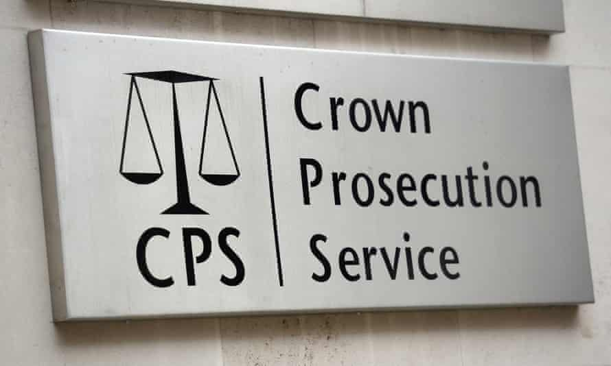 Sign outside the CPS, London