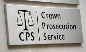 A sign for the Crown Prosecution Service in Westminster, London.