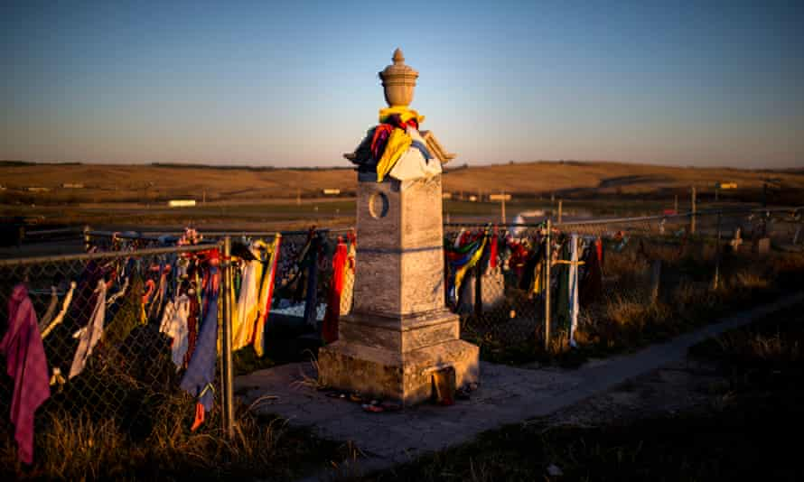 The Wounded Knee Memorial on Pine Ridge Reservation in South Dakota.
