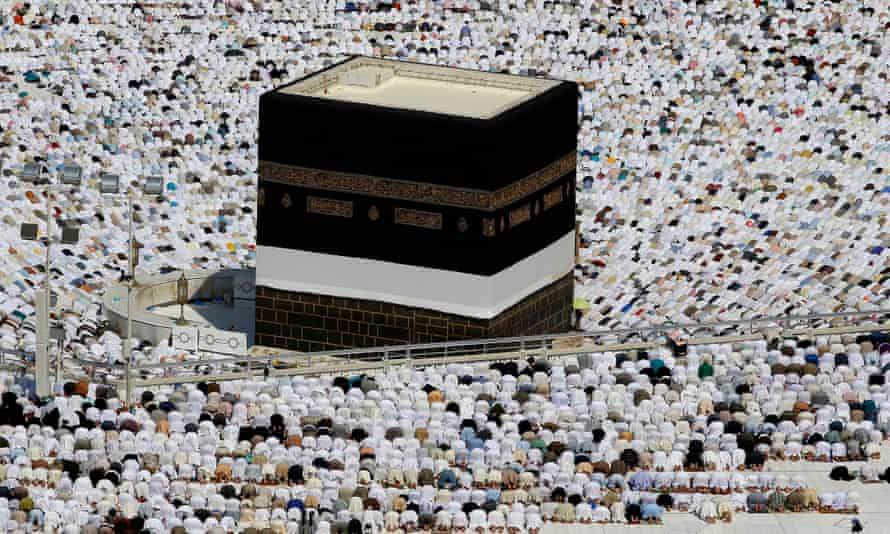 Muslims in Mecca during the annual hajj pilgrimage