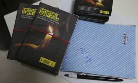 Publicity materials for an Amnesty International campaign