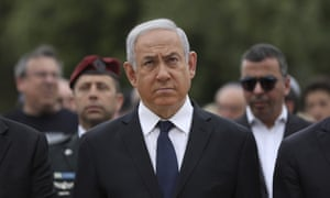 Israeli prime minister Benjamin Netanyahu at a ceremony for Holocaust Remembrance Day, Jerusalem, May 2019