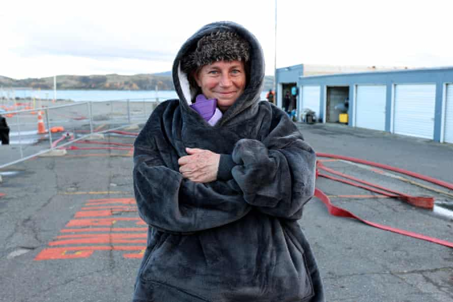 Dr Ingrid Visser, an expert on orcas, at Plimmerton in New Zealand where rescuers are working to keep baby killer whale Toa alive.