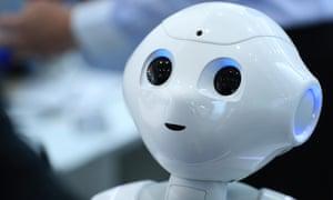 A Pepper humanoid robot.