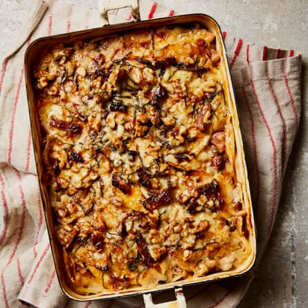 Yotam Ottolenghi's swede, bacon and walnut gratin.