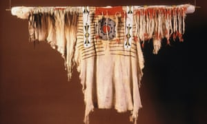 A Blackfooot buckskin shirt that once belonged to Crowfoot.