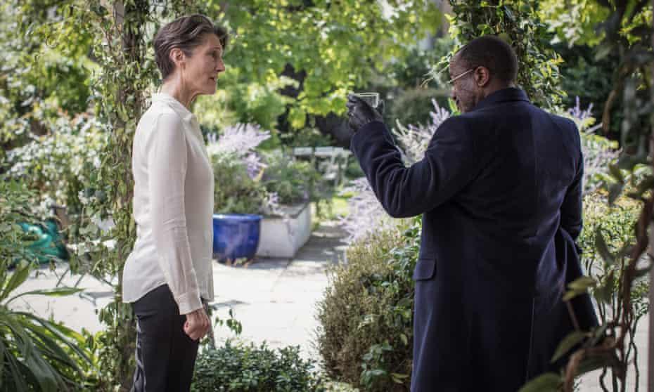 Harriet Walter as Eve Ashby and Lucian Msamati as David Runihura