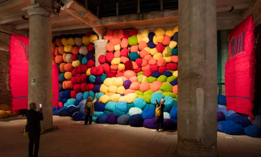 Great balls of wool … Escalade Beyond Chromatic Lands by America's Sheila Hicks.