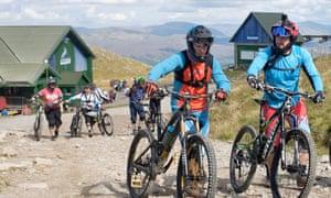 Mountain biking with Nevis Range Mountain Experience.