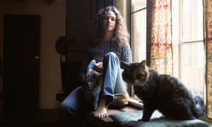 Carole King … and her cat Telemachus, from the cover of Tapestry.