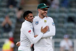 Keshav Maharaj and Faf du Plessis will have big roles to play on the final day of Australia's tour of South Africa.