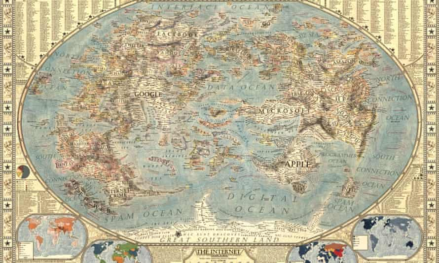 Martin Vargic's Map of the Internet.