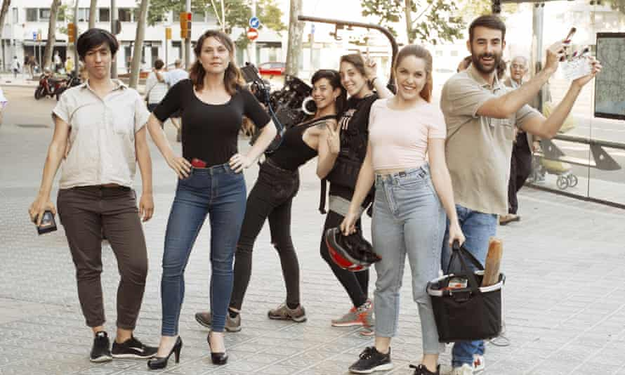 Film-maker Erika Lust, second left, has joined forces with tour company Trip4Real for some creative insights into Barcelona.