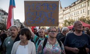 Prague protesters