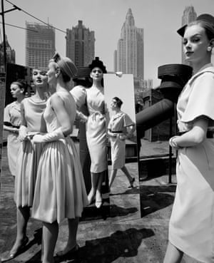 Vogue magazine, 1962Evelyn, Isabella, Nena & Mirrors on the Roof, New York for a fashion shoot