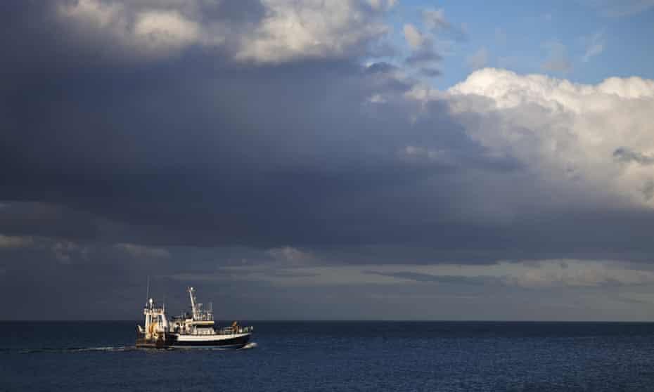 A fishing boat in the Irish Sea.