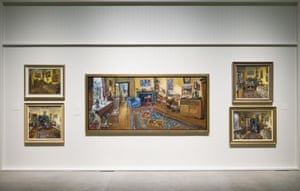 Five of the paintings on show at Goma