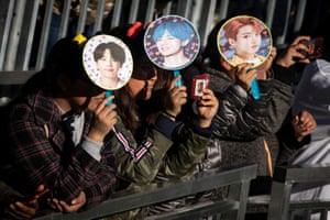Fans wait for BTS to take the stage in Central Park, New York, in May last year.