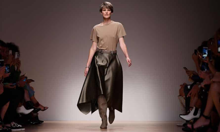 Stella Tennant at the Spring/Summer 2019 fashion show in Milan.