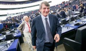 David Sassoli in the European parliament