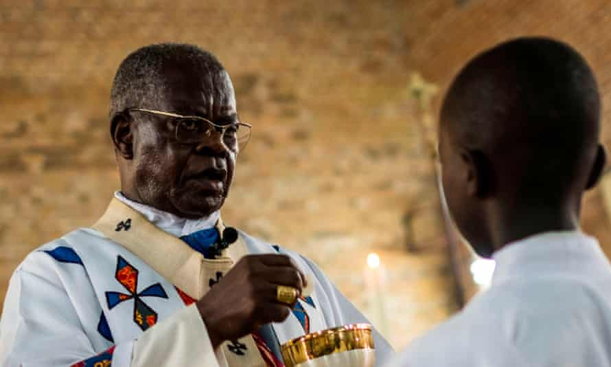 Cardinal Laurent Monsengwo Pasinya, archbishop of Kinshasa, is the de facto primate of the DRC.