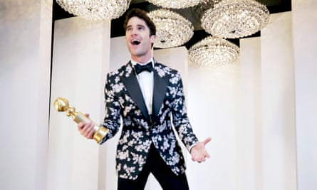 On the straight and narrow ... Darren Criss said playing Andrew Cunanan would be his last gay role after winning the Golden Globe for The Assassination of Gianni Versace