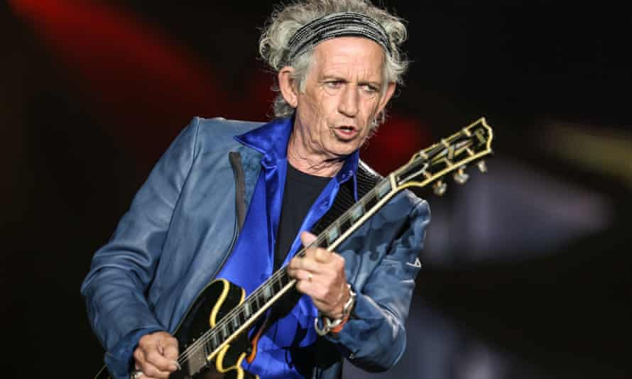 Keith Richards on stage in San Diego this summer.