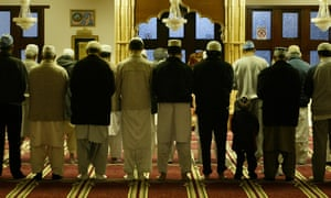 Prayers at a mosque in Bradford