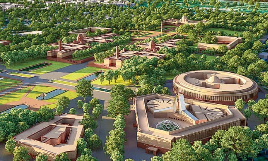 The new Parliament complex envisages a new triangular Parliament building next to the existing complex.