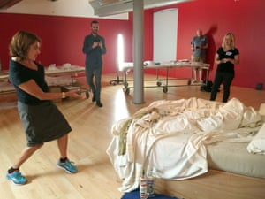 Tracey Emin presents her remade 1998 installation My Bed at Tate Liverpool. The work opens to the public on 17 September.