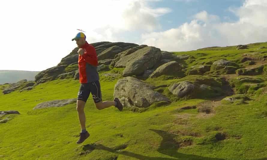 Luke Tyburski running an endurance race