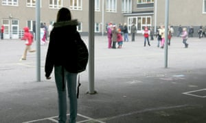 Students in a school playground.