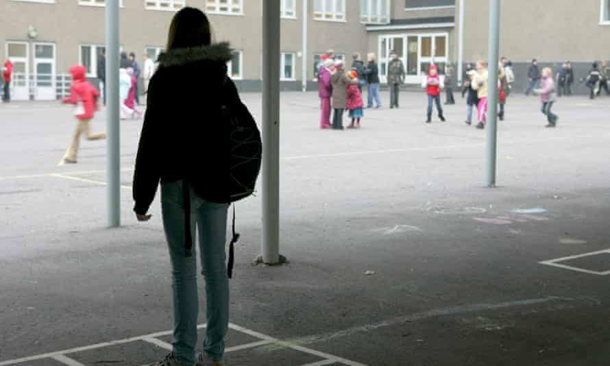 School pupils in a playground