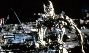 Still from Terminator 2: Judgement Day (US 1991). 'The killer robots I'm talking about aren't T101 Terminator robots. It's stupid AI that I'm most worried about.'