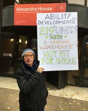 Colin Kerr outside Alexandra House