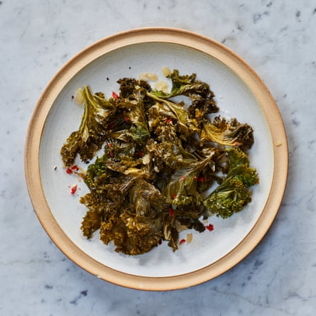 Marcus Samuelsson's spiced greens (kale).