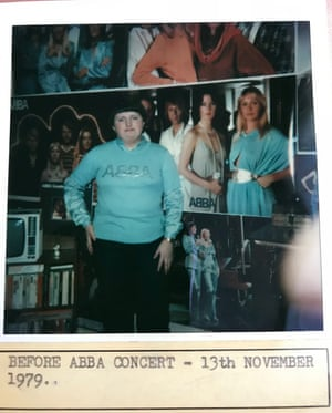 Margaret Rose McKenzie in a Polaroid her mum took before an Abba concert in 1979