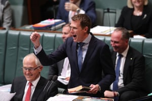 Social services minister Christian Porter quoting Wayne Swan's book The Good Fight.