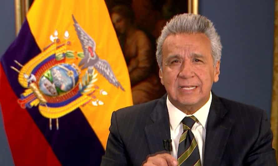 President Moreno in a TV address.