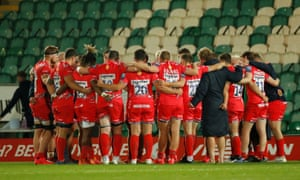Sale players after their victory over Northampton