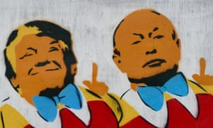trump putin graffiti